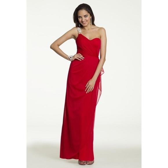 Camille La Vie Dresses | One Shoulder Rhinestone Trim Prom Dress ...